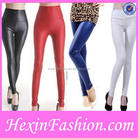 New arrival fashion colors hot girls sexy leather leggings
