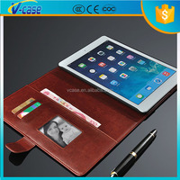 Excellent quality shockproof cute leather flip cover tablet case for ipad
