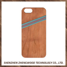 High quality natural wood eco-friendly phone case mobile phone hanging accessories for iphone 7