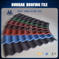 building material aluminum roof tile colorful stone coated metal roof tile price