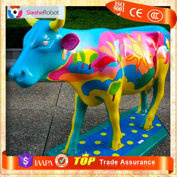 SH-F020 Life Size Fiberglass Animal Cow Staue