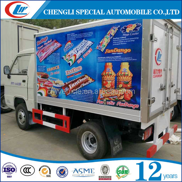 FOTON 1.5T Mini Ice Cream Freezer Cargo Truck For Sale