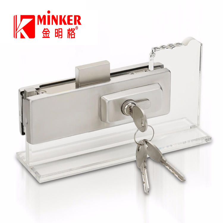 Floor Fitting 304 Key Security Glass Door Bottom Patch Lock