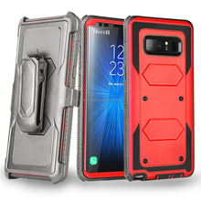 New Mobile Phone Hard Back Holster Belt Clip Cover Heavy Duty Armor Case for Samsung Galaxy Note8