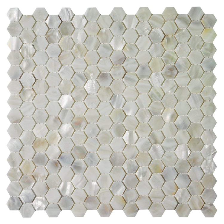 Decorstone24 Bling Bling Oyster Shell Backsplash Tile Mini Hexagon Mosaic With Fast Delivery