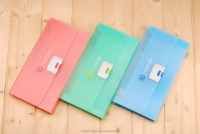 Fashion transparent file folder B5 pp expanding wallet office stationery