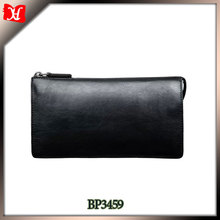 Full grain leather men handbags and purses with wrist