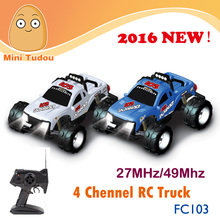2016 Newest MiniTudou High Quality FC103 27/49MHz 4-Channel High Speed rc Monster Truck Car with lights