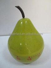 fresh and delicious pear shape kitchen fruit mechanical timer