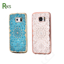 New Arrival Luxury Diamond Rhinestone Electroplate Cell Phone TPU Case for S8
