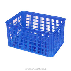 High quality long duration time warehouse rectangular plastic basket handles