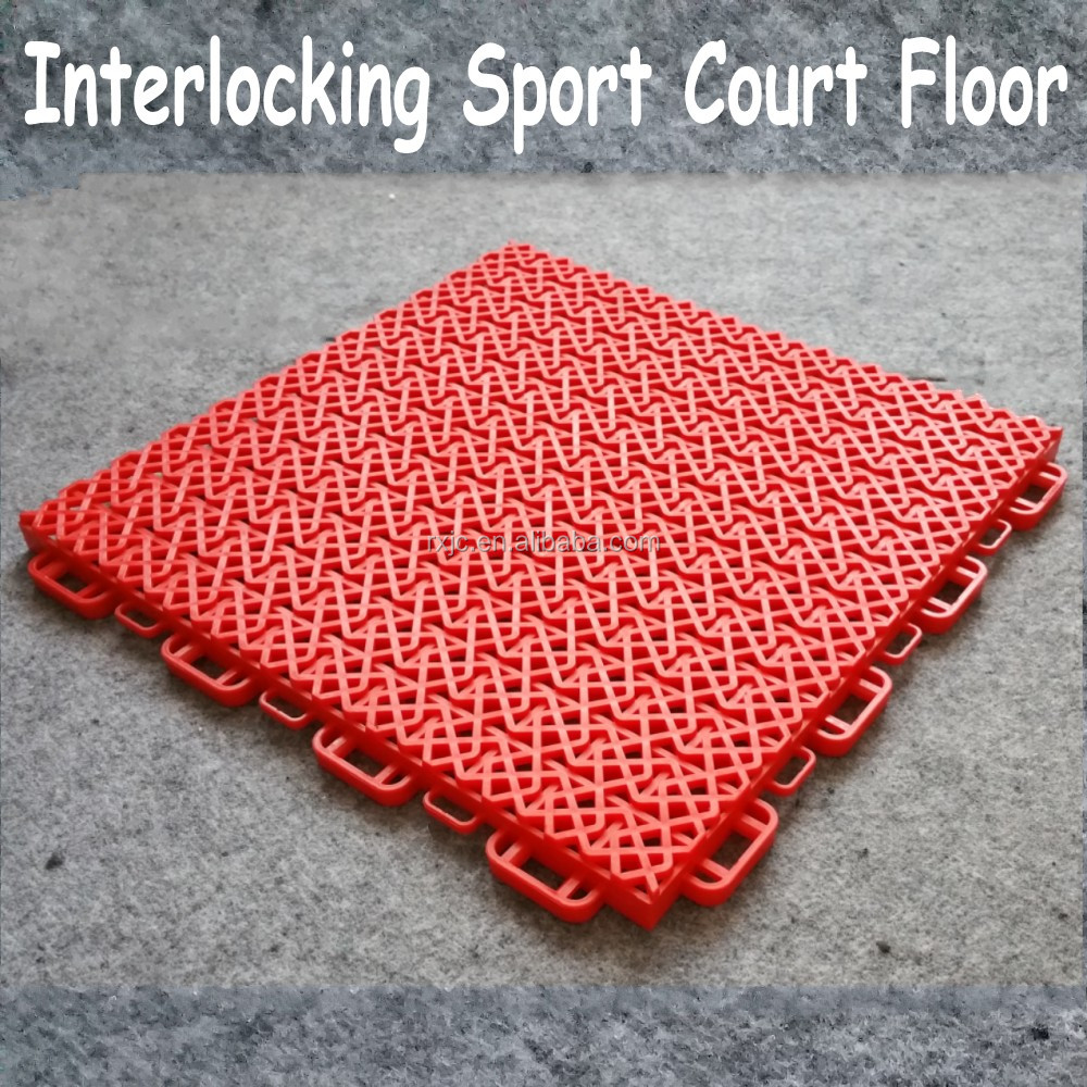 interlocking used indoor sport court flooring