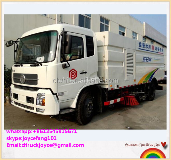 4x2 Dongfeng 12000 Liters Pressure Cleaning Truck