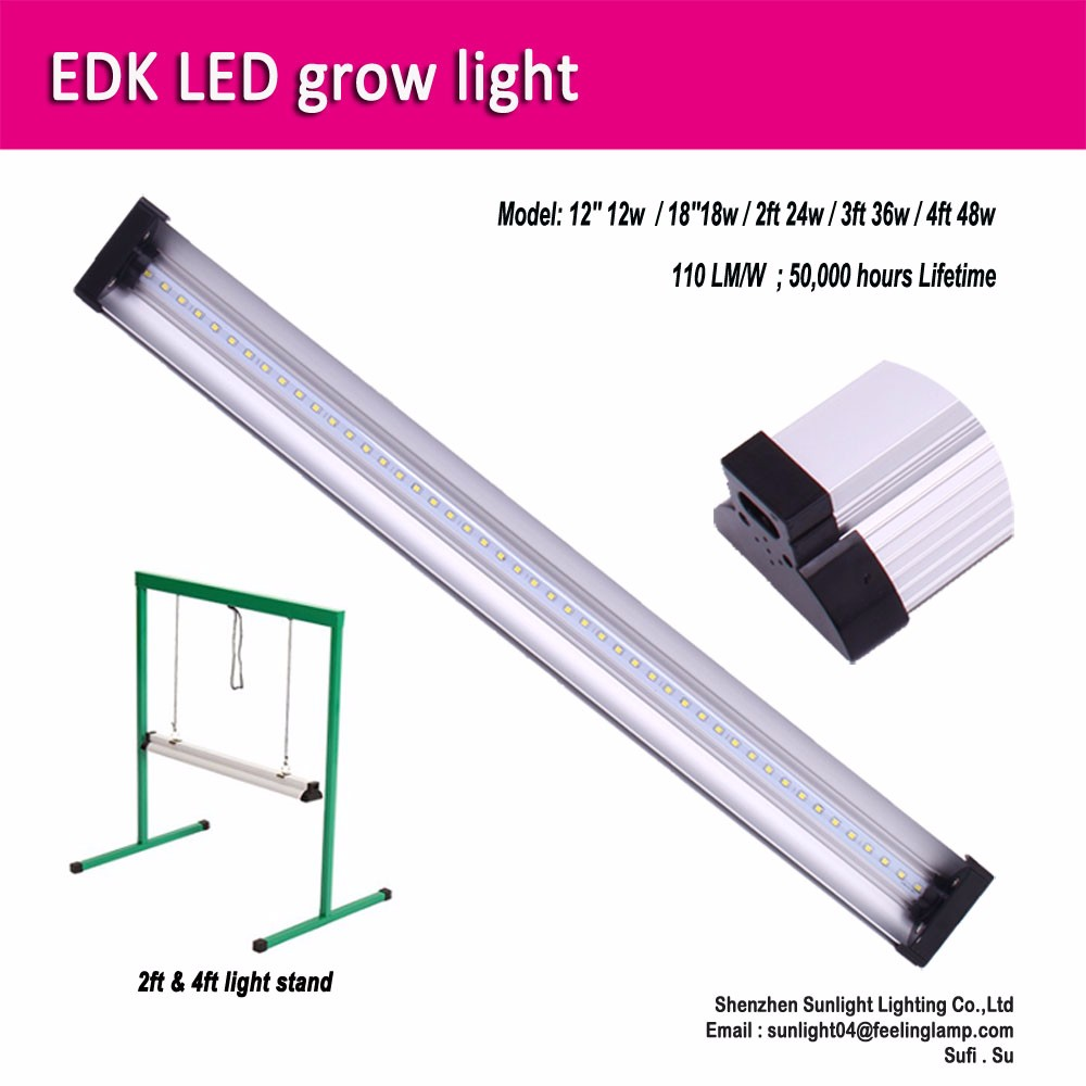 2ft EDK 24W indoor plant LED grow lights system seed led grow lighting