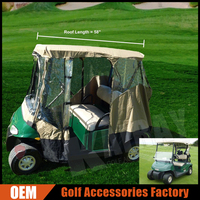 2 Passenger Driving Enclosure Golf Cart Cover Golf Club Rain Cover