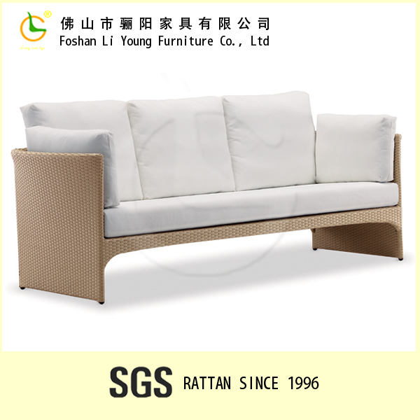 German style easy to clean indoor living room use small l shaped sofa , simple design and elegant rattan cheers sofa furniture