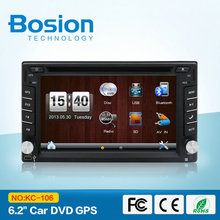 Universal 6.2 inch Touch Screen 24v Cheap Car Radio FM with Sim Card