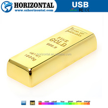 best promotion gifts for bank 2015 Hotsale Wholesale Cool Gold Bar 64GB USB 2.0 Flash Drive
