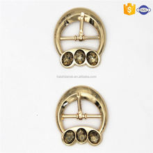 Most popular simple design metal pin clip shoe buckles directly sale