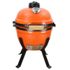 TOPQ 14 mini green ceramic kamado charcoal grill/small charcoal grill