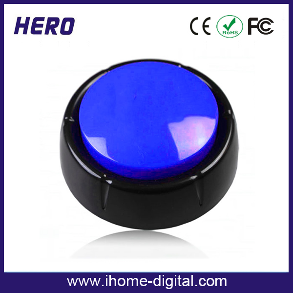 Customized programmable sound button rgb push button with custom logo imprint