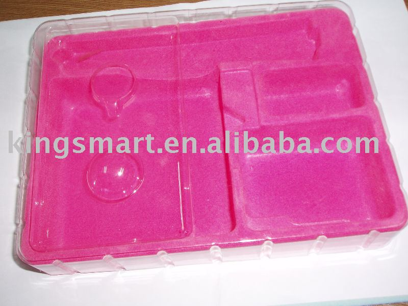 PS flocking tray for tools