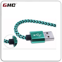 High quality fabric nylon 5V2A usb cable data Kabel Converter-Male to Micro USB Charging Cord for MacBook