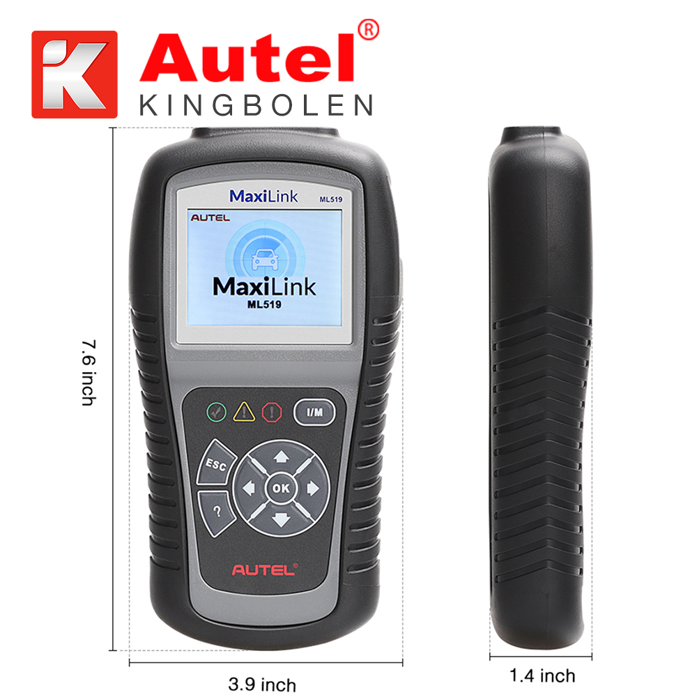 12V vehicle diagnostic equipment AUTEL MaxiLink ML519 scanner automobile