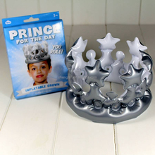 Gold King Princess Inflatable Crown For Festival Holiday