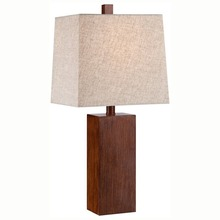 European Contemporary Style Electric Power Source Bedside Desk Decorative Driftwood Crafted Polyresin Table Lamp With Bell Shade