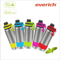 18oz double wall stainless steel sport water bottle with silicone holder