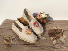 2017 New women shoes,cheap espadrille shoes colorful jute sole
