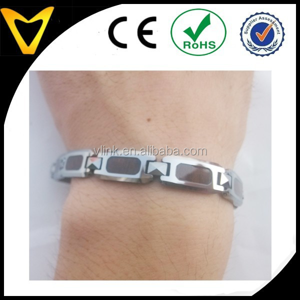 Custom design wristband ,tungsten chain with wood inlay bracelets,hand chain fashion bracelets
