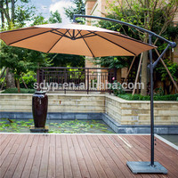manufacturer wholesale all aluminum frame with handle rome umbrella coffee shop umbrella