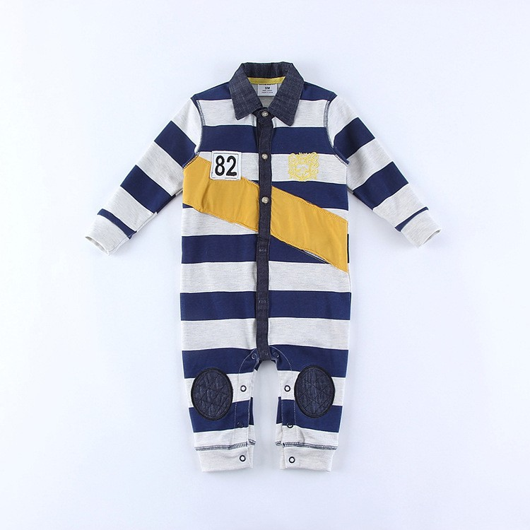 R&H China Supplier Custom logo stripe design spanish baby clothes manufacturer