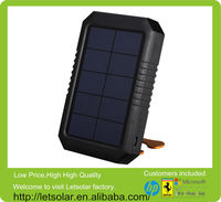 China high efficiency solar portable handphone solar charger with rotating LED light