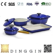 China manufacturer cast iron enamel cookware set