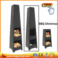 Outdoor Wood Burning Charcoal BBQ Chiminea Fireplace