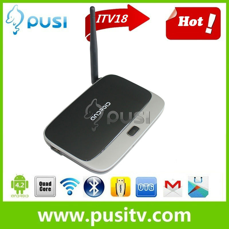 2013 Bestseller Cloudnetgo RK3066 Dual Core ITV18 Android 4.2 TV Box 1080P HDMI Support Skype MSN Webcam Miracast smart tv box