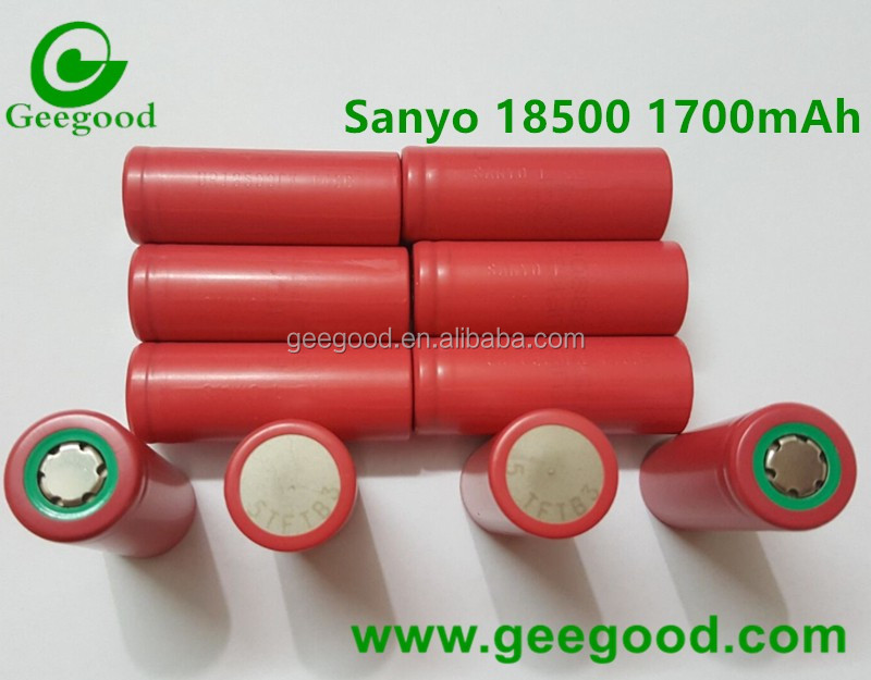 Original Sanyo brand 18500 battery 18500F 18500FK 3.7V 1700mAh Min 1620mAh battery 18500