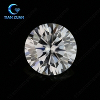 the round moissanite D or F color diamond cut gemstone similar to real diamond very shinning