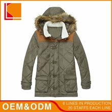 Cheap Lining 100% Polyester Winter Hood Man Coat Clothes Design