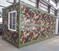 Expanded military office container/prefab contain home/flat pack foldable container house for sale