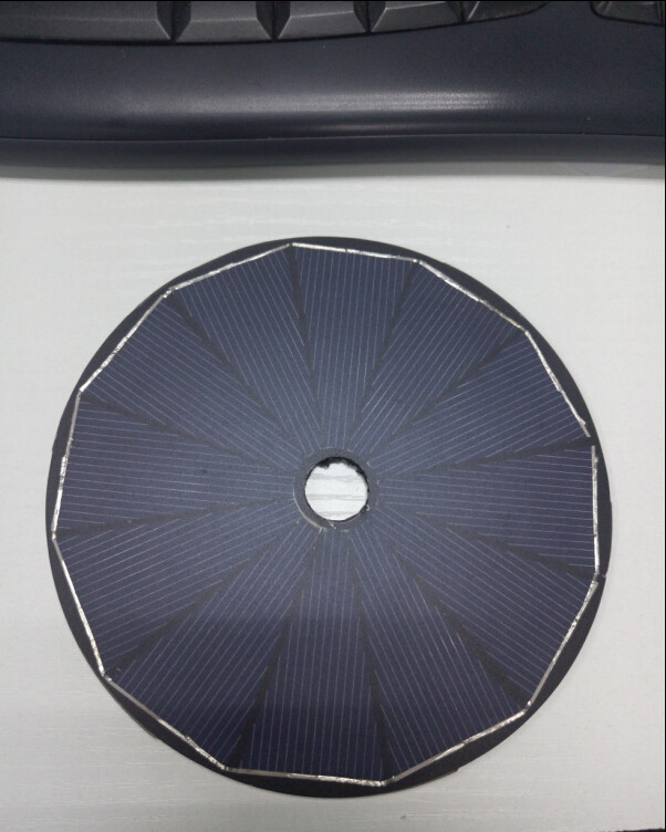round solar panel 1W6V 125 x 125 mm OEM design China