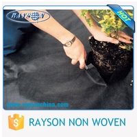 Agricultural Best Weed Control PP Non Woven Black Plastic Ground Cover Plant