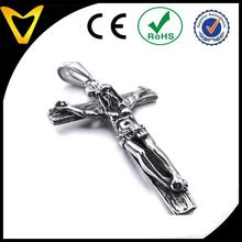 Jesus Christ Crucifix Cross,men's 316L Stainless Steel Pendant Necklace