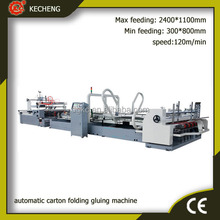 corrugated carton box making machine/automatic corrugated carton folder gluer machine