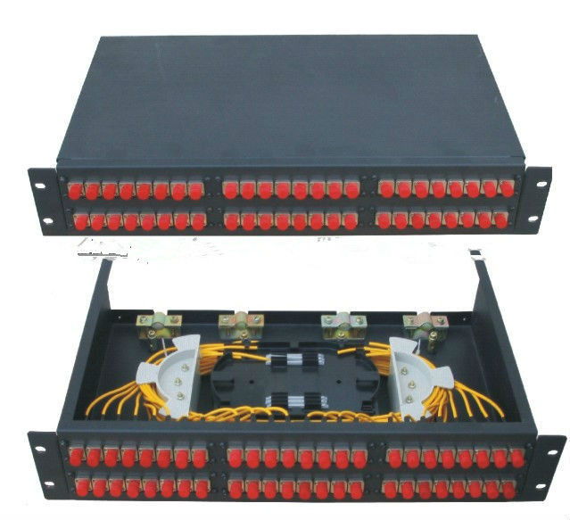 Fiber optic patch panel / 2U 48 port fiber optic patch panel