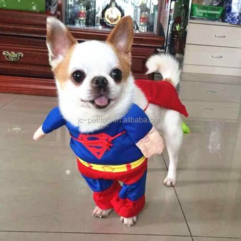 New style hot selling adidog pet dog clothes and superman costume