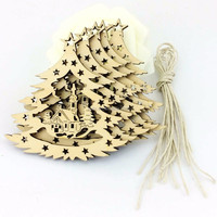 Christmas decoration outdoor wood hanging ornament